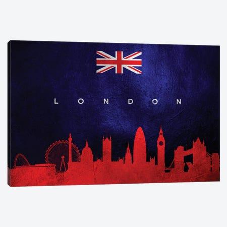 London United Kingdom Skyline II Canvas Print #ABV252} by Adrian Baldovino Canvas Artwork