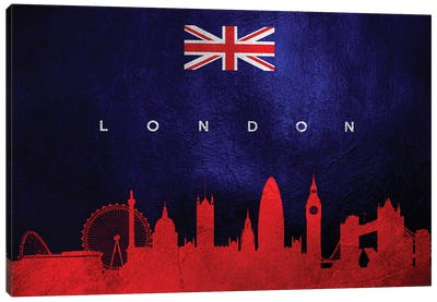 London United Kingdom Skyline II Canvas Art Print