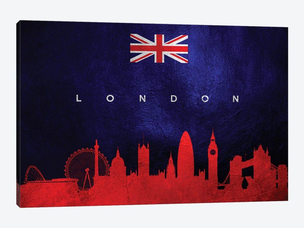 London United Kingdom Skyline II by Adrian Baldovino 1-piece Canvas Artwork
