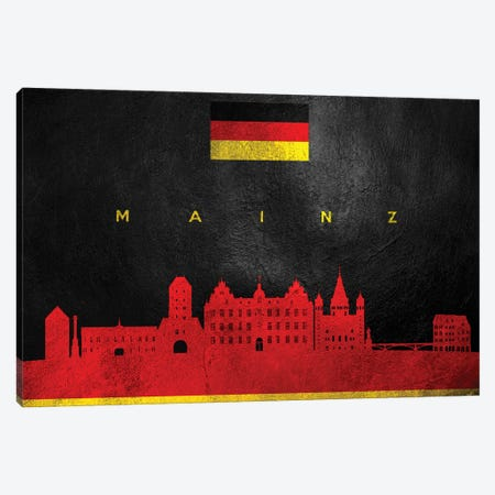 Mainz Germany Skyline Canvas Print #ABV254} by Adrian Baldovino Canvas Art Print