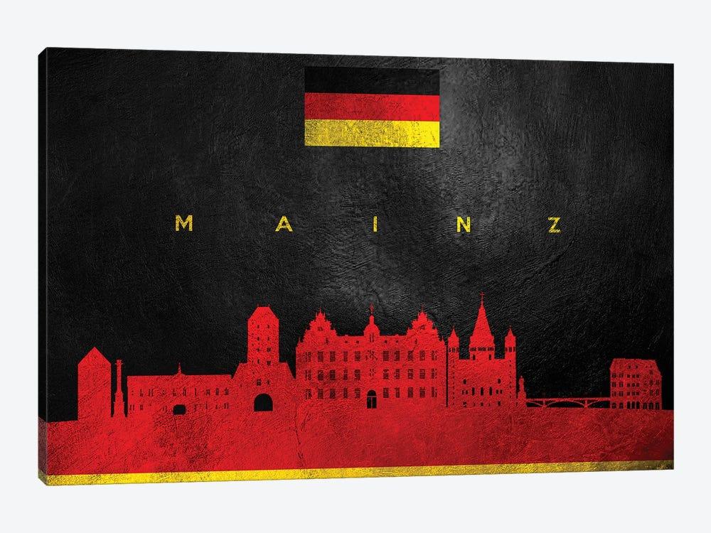 Mainz Germany Skyline by Adrian Baldovino 1-piece Canvas Artwork