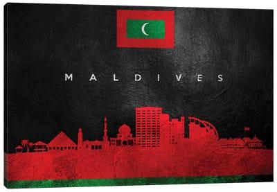 Maldives Skyline Canvas Art Print