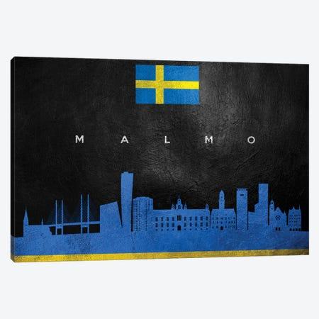 Malmo Sweden Skyline Canvas Print #ABV257} by Adrian Baldovino Canvas Art Print