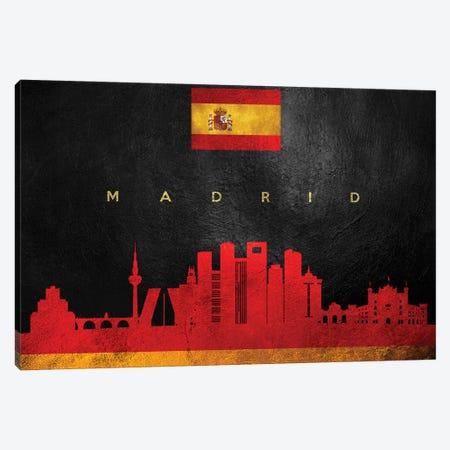 Madrid Spain Skyline Canvas Print #ABV258} by Adrian Baldovino Canvas Wall Art