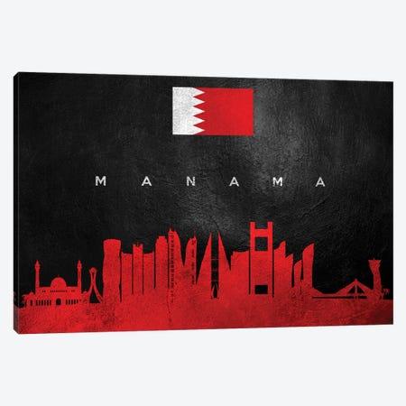Manama Bahrain Skyline Canvas Print #ABV259} by Adrian Baldovino Canvas Wall Art