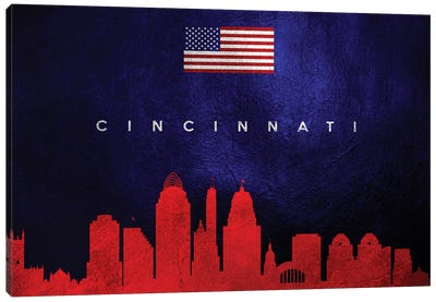 Cincinnati Ohio Skyline Canvas Art Print