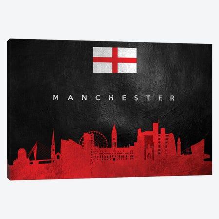 Manchester England Skyline Canvas Print #ABV260} by Adrian Baldovino Art Print