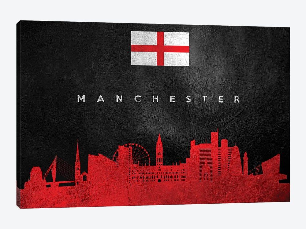 Manchester England Skyline by Adrian Baldovino 1-piece Canvas Print