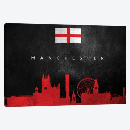 Manchester England Skyline II Canvas Print #ABV261} by Adrian Baldovino Canvas Print