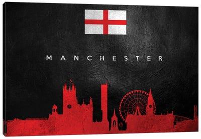 Manchester England Skyline II Canvas Art Print