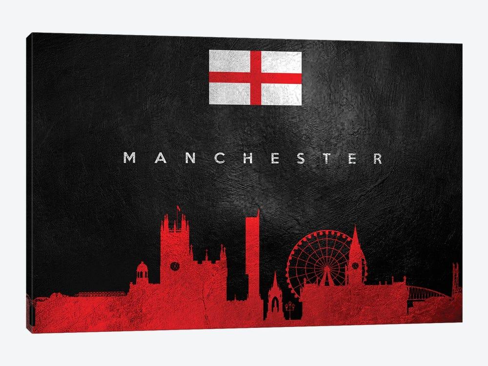 Manchester England Skyline II by Adrian Baldovino 1-piece Canvas Artwork