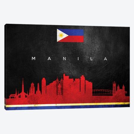 Manila Philippines Skyline Canvas Print #ABV262} by Adrian Baldovino Art Print