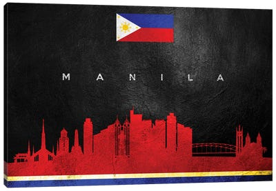 Manila Philippines Skyline Canvas Art Print