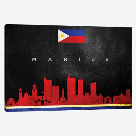 Manila Philippines Skyline II Canvas Print #ABV263} by Adrian Baldovino Art Print