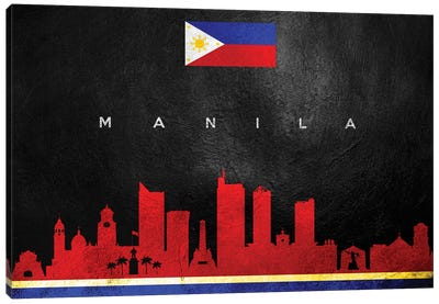 Manila Philippines Skyline II Canvas Art Print