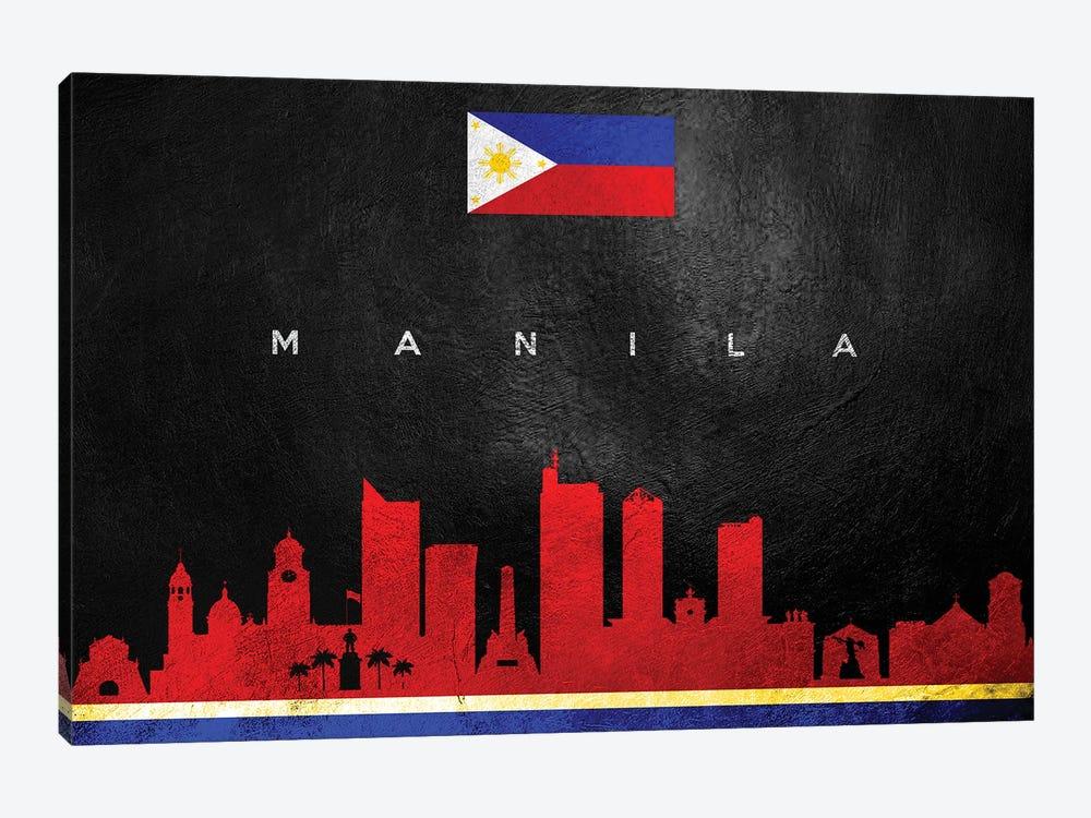 Manila Philippines Skyline II by Adrian Baldovino 1-piece Canvas Artwork