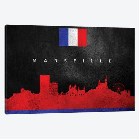 Marseille France Skyline Canvas Print #ABV264} by Adrian Baldovino Canvas Artwork