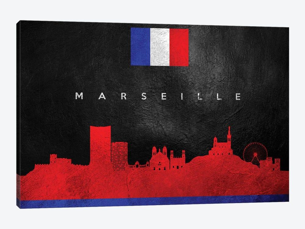Marseille France Skyline by Adrian Baldovino 1-piece Art Print