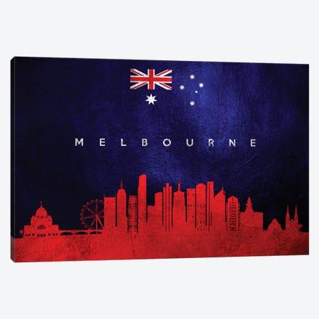 Melbourne Australia Skyline Canvas Print #ABV265} by Adrian Baldovino Canvas Artwork
