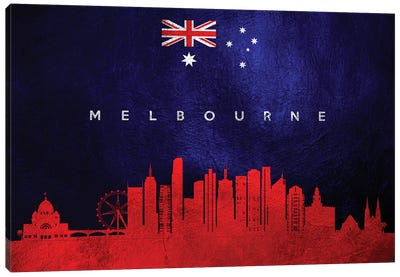 Melbourne Australia Skyline Canvas Art Print
