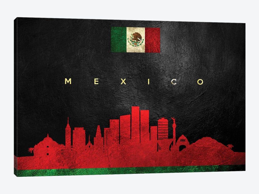 Mexico Skyline by Adrian Baldovino 1-piece Canvas Art Print