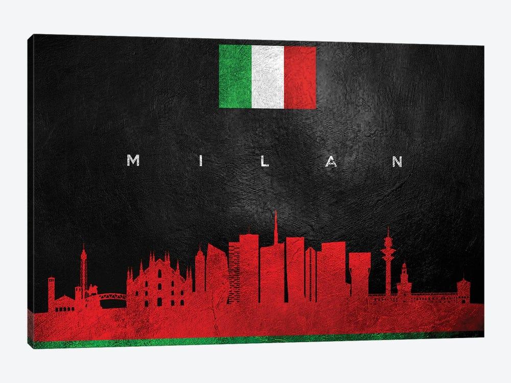 Milan Italy Skyline by Adrian Baldovino 1-piece Canvas Art