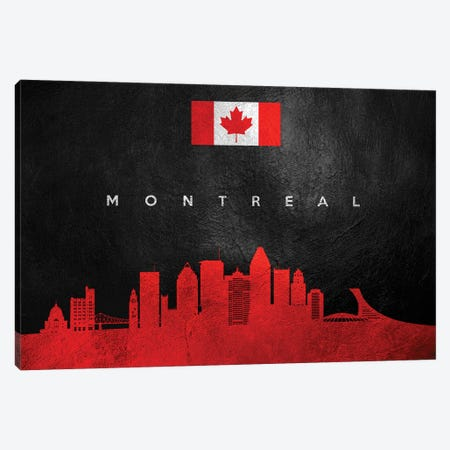 Montreal Canada Skyline II Canvas Print #ABV269} by Adrian Baldovino Canvas Art Print