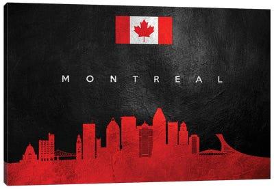 Montreal Canada Skyline II Canvas Art Print
