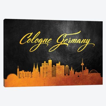 Cologne Germany Gold Skyline Canvas Print #ABV26} by Adrian Baldovino Canvas Art Print