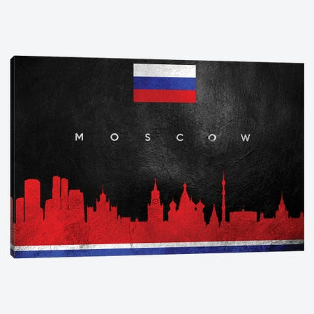 Moscow Russia Skyline Canvas Print #ABV270} by Adrian Baldovino Canvas Wall Art