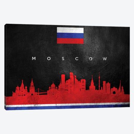 Moscow Russia Skyline II Canvas Print #ABV271} by Adrian Baldovino Canvas Artwork