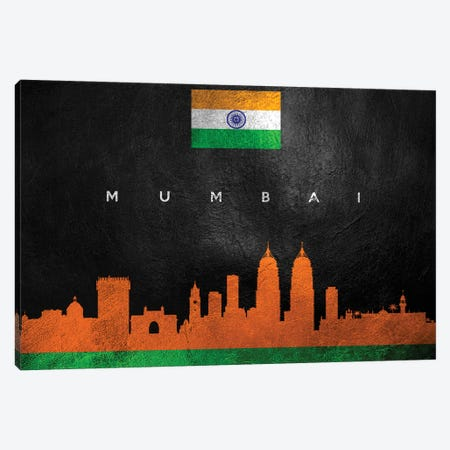 Mumbai India Skyline II Canvas Print #ABV272} by Adrian Baldovino Canvas Art