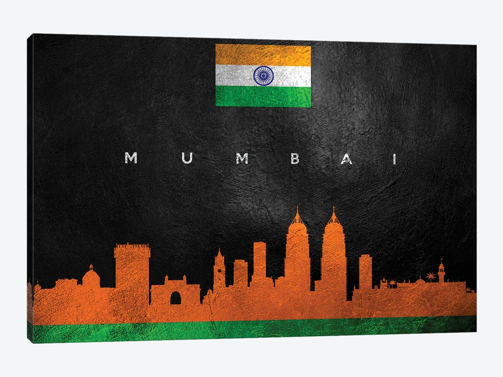 Mumbai India Skyline II by Adrian Baldovino 1-piece Canvas Wall Art