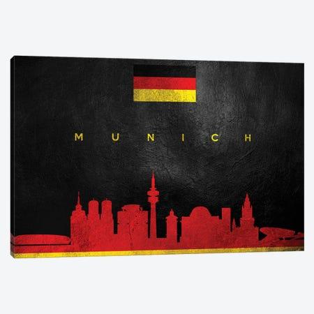 Munich Germany Skyline Canvas Print #ABV273} by Adrian Baldovino Canvas Artwork