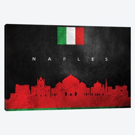 Naples Italy Skyline Canvas Print #ABV275} by Adrian Baldovino Canvas Print
