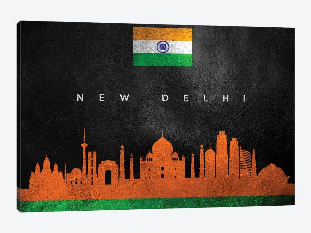 New Delhi India Skyline by Adrian Baldovino 1-piece Canvas Wall Art