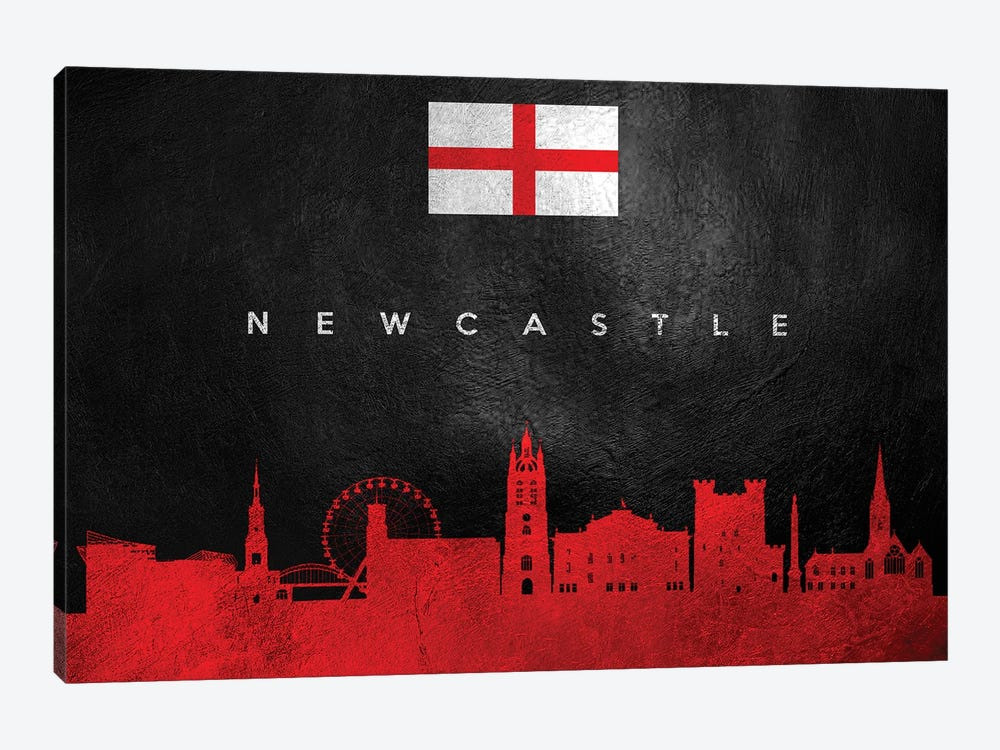 Newcastle England Skyline by Adrian Baldovino 1-piece Canvas Print