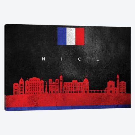 Nice France Skyline Canvas Print #ABV278} by Adrian Baldovino Canvas Artwork
