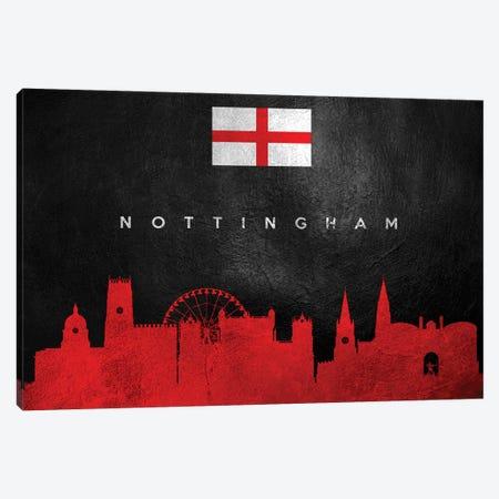 Nottingham England Skyline Canvas Print #ABV280} by Adrian Baldovino Canvas Art Print