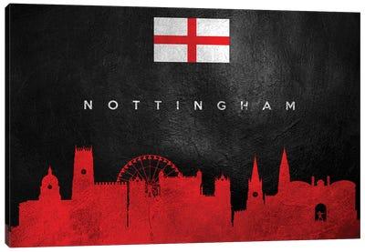Nottingham England Skyline Canvas Art Print