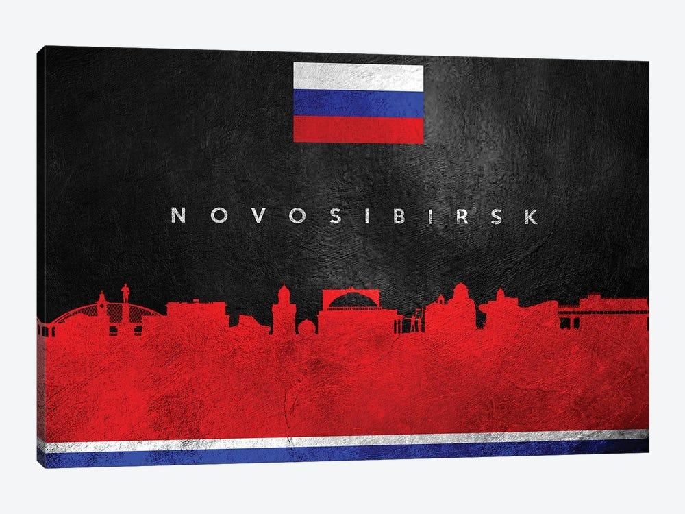 Novosibirsk Russia Skyline by Adrian Baldovino 1-piece Canvas Wall Art