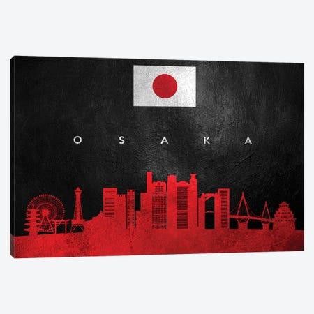 Osaka Japan Skyline Canvas Print #ABV282} by Adrian Baldovino Art Print
