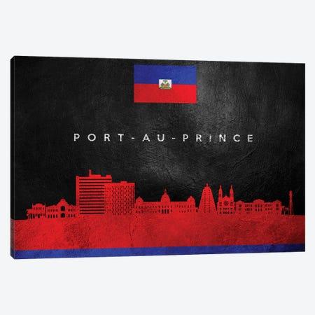 Port-Au-Prince Haiti Skyline Canvas Print #ABV285} by Adrian Baldovino Canvas Artwork