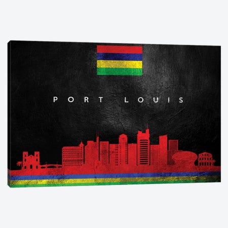 Port Louis Mauritius Skyline Canvas Print #ABV286} by Adrian Baldovino Canvas Artwork
