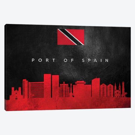 Port Of Spain Trinidad And Tobago Skyline Canvas Print #ABV287} by Adrian Baldovino Canvas Art