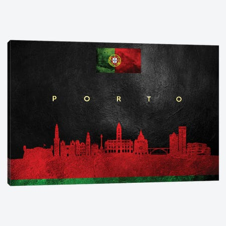 Porto Portugal Skyline Canvas Print #ABV288} by Adrian Baldovino Art Print