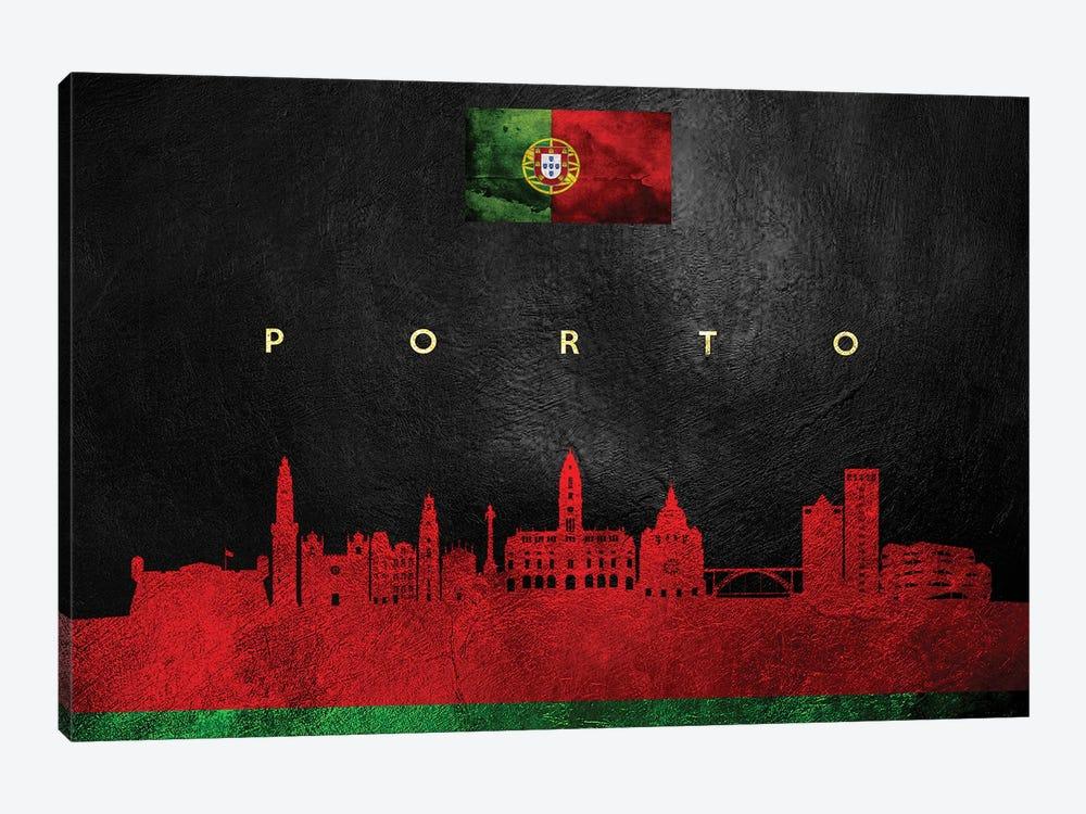 Porto Portugal Skyline by Adrian Baldovino 1-piece Art Print