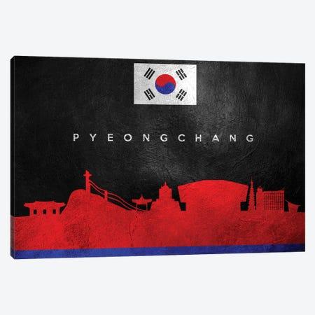 Pyeongchang South Korea Skyline Canvas Print #ABV291} by Adrian Baldovino Canvas Artwork
