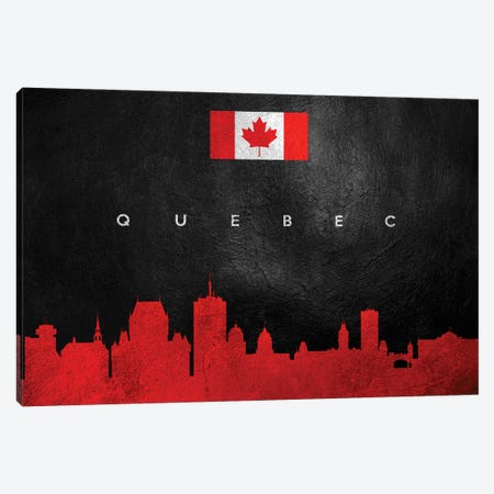 Quebec Canada Skyline II Canvas Print #ABV292} by Adrian Baldovino Canvas Art