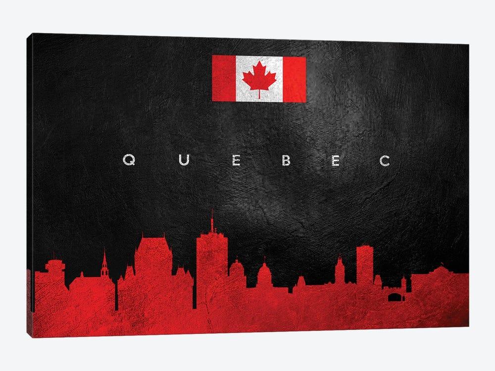 Quebec Canada Skyline II by Adrian Baldovino 1-piece Canvas Artwork